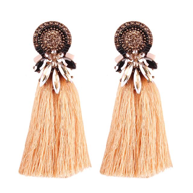 Bohemian Dangle Drop Tassel Earrings