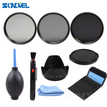 49 52 55 58 62 67 72 77MM Neutral Density Filter Lens Set Kit+Lens hood+Lens cap+Cleaning kit ND2 ND4 ND8 ND 2 4 8 for lenses