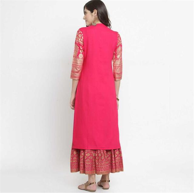 Women's Indian Kurta and Skirt Set