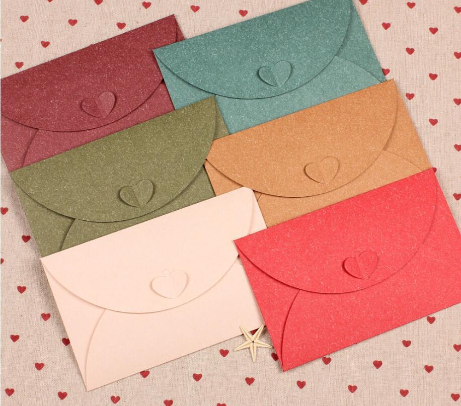 Office & School Supplies 20 Teile/los Retro Herz Verschluss Kleine Farbige Perle Blank Mini Papier Umschläge Hochzeit Party Einladung Umschlag Diy Gilt Umschlag SpäTester Style-Online-Verkauf Von 2019 50%