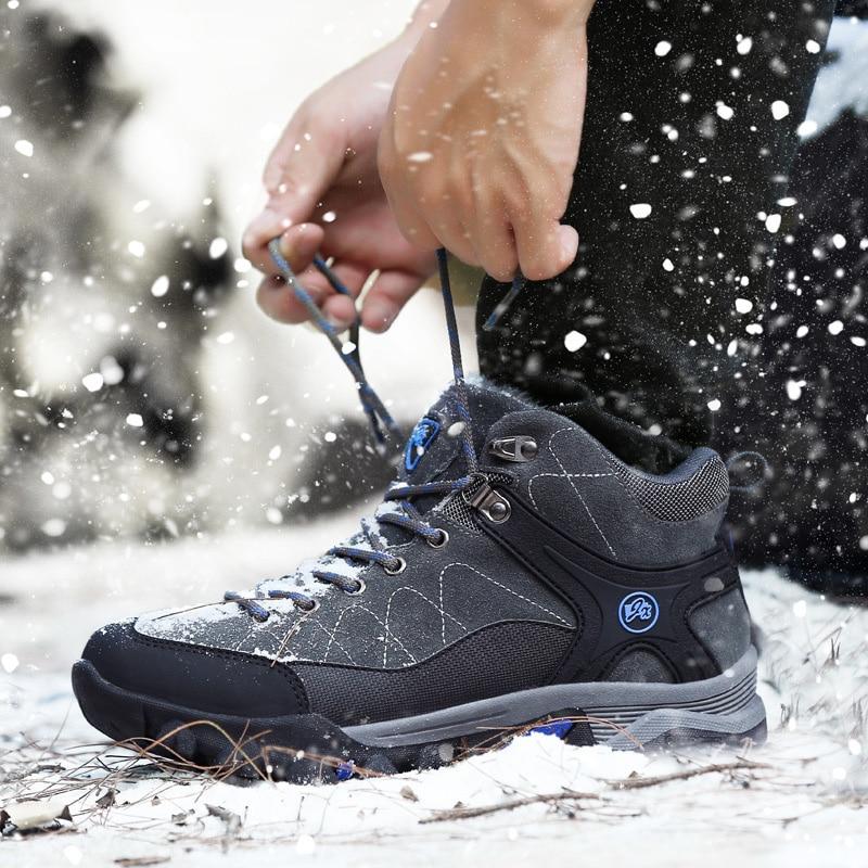 2018 bottes hommes baskets bottes d'hiver chaussures de voyage en plein air respirant travail chaussures résistant à l'usure antidérapant hommes chaussures