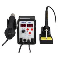 Free Shipping LED Digital Display Lead Free SMD Solder Station YIHUA 898D Hot Air Gun Solder