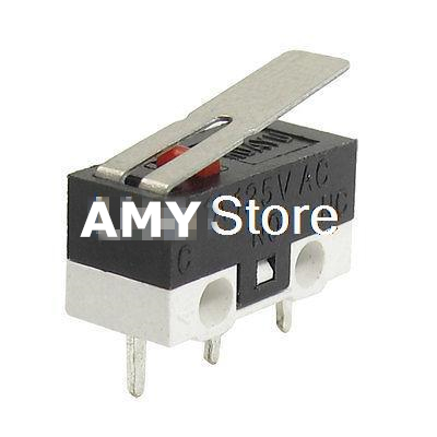 10PCS KW10 3 Pin Long Hinge Lever Momentary SPDT Mini Micro Switch AC 125V 1A 12 x 6 x 13mm ac 250v 15a low force hinge lever momentary micro switch microswitch