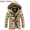 Free shipping Winter Jacket Man Down Coats Long Thick Outwear Hooded Men's Parka  Fur Collar Removable Hood Jacket 185hfx