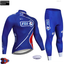 Winter Team FDJ Cycling Jersey 2019 Pro Ropa Ciclismo Hombre Clothing Bib Pants 9D Sets Bike MTB Maillot