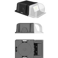 Dusk to Dawn LED 10W 20W 30W Small Wall Pack Flood Light Outdoor Waterproof Lamp for Yard, Garden, Patio, Deck Black