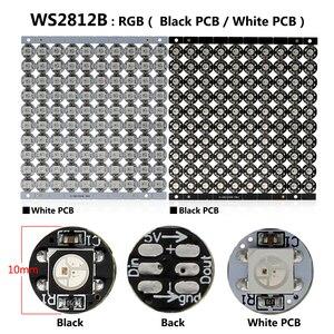 5 ~ 100 шт. бортовой радиатор WS2812B / SK6812 светодиодный чип с черно-белой печатной платой (10 мм * 3 мм) WS2811 IC встроенный 5050 SMD RGB DC5V