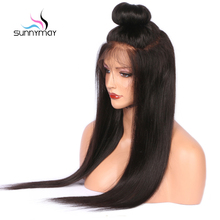 Sunnymay Glueless Brazilian Remy Full Lace Human Hair Wigs Natural Hairline Black Straight Wigs for Black Women Free Shipping