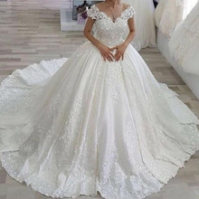 kejiadian Ball Gown Wedding Dresses Satin Bridal Gowns