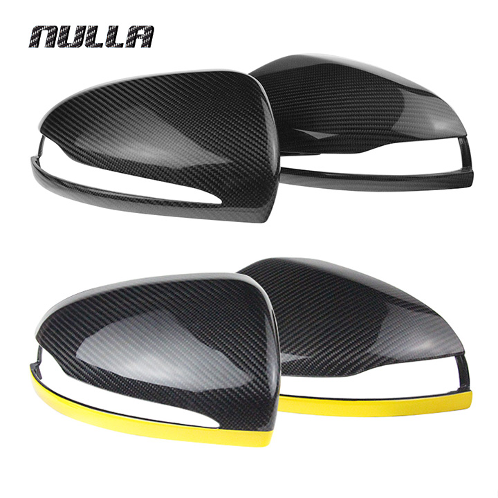 NULLA Carbon Fiber Rearview Mirror Cover Car Door Wing Replacement For Mercedes Benz W222 W205 W213 S C Class GLE GLC 2015 2016 yandex mercedes x156 bumper canards carbon fiber splitter lip for benz gla class x156 with amg package 2015 present