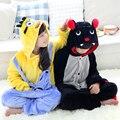Wholesale Bat Yellow Minion Onesies Flannel Hoodie Pajamas Costume Cosplay Animal Sleepwear For Boys Girls Kids
