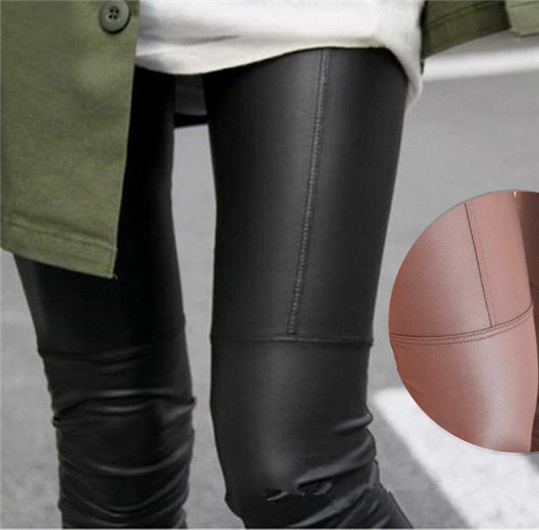 Faux Leather Leggings For Women - M,L,XL,XXL - Khaki, Black, Brown - image HTB1iSf_GFXXXXaxaXXXq6xXFXXXf on https://awesomeleggingstore.com