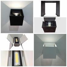 DHL Shipping 6W 12W IP65 Waterproof Aluminum LED Outdoor Wall Lamp Up and Down Adjustable Lighting Porch Garden Lights AC85-265V