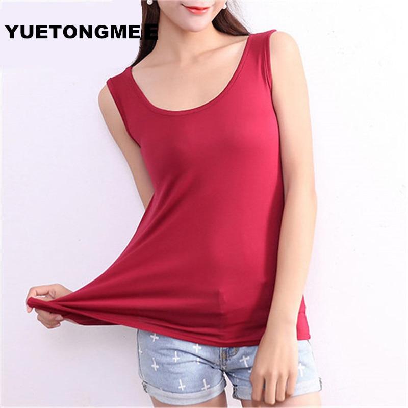 664c9459d667a מוצר - YUETONGME Plus Size XL 6XL Sexy Women Fashion modal Vest Top  Sleeveless U-Neck Blouse Casual Tank Tops BTL098