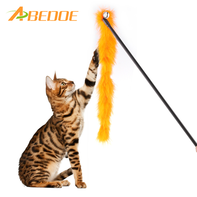 1ps Fun Cat Toys Pets Catcher Feather Teaser Toy Cat Stick ...