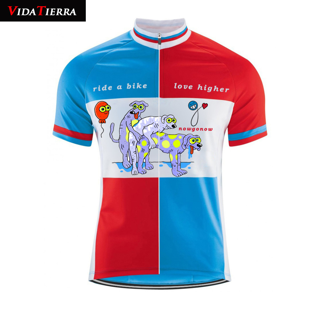 VIDATIERRA 2019 men cartoon cycling jersey Colorful Maillot ciclismo bike  jersey dog game rider a bike b5529eaf0