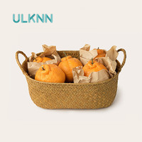 Natural Sea Grass Woven Storage Basket With Handles Multi Use Eco Table Kitchen Organizer Fruits Breads