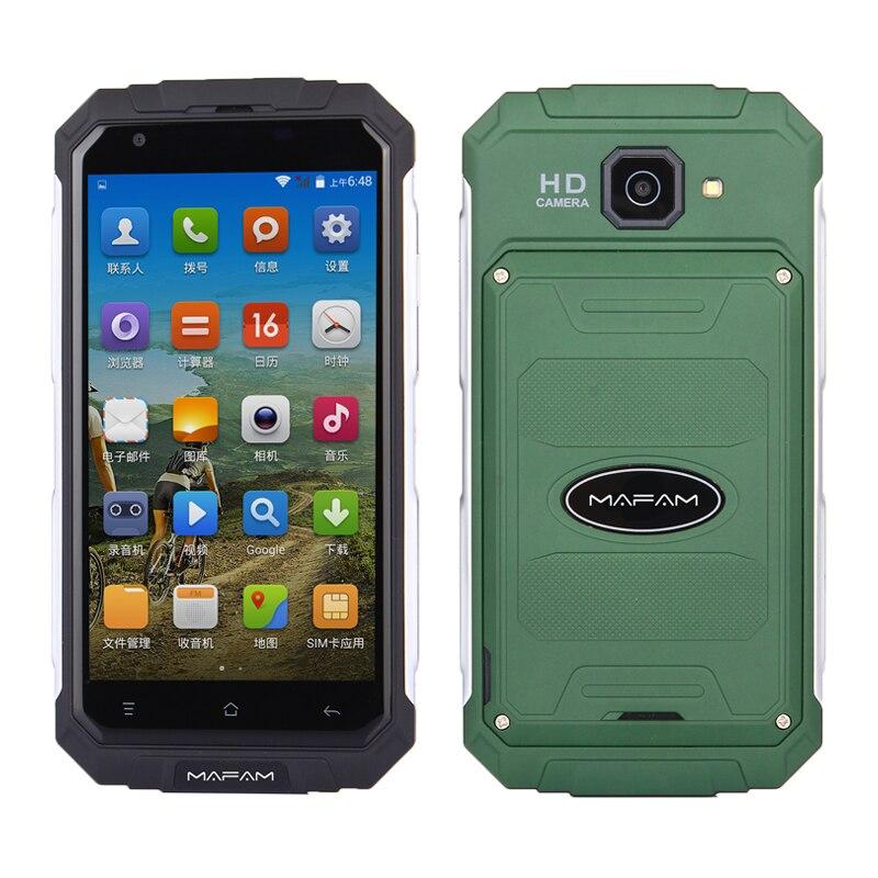 Terre V9 + plus Quad Core MTK6580 Android 5.0 512 mb RAM 8 gb ROM 2g 3g wcdma GPS 5.0 Écran GPS extérieur mince Téléphone Intelligent robuste