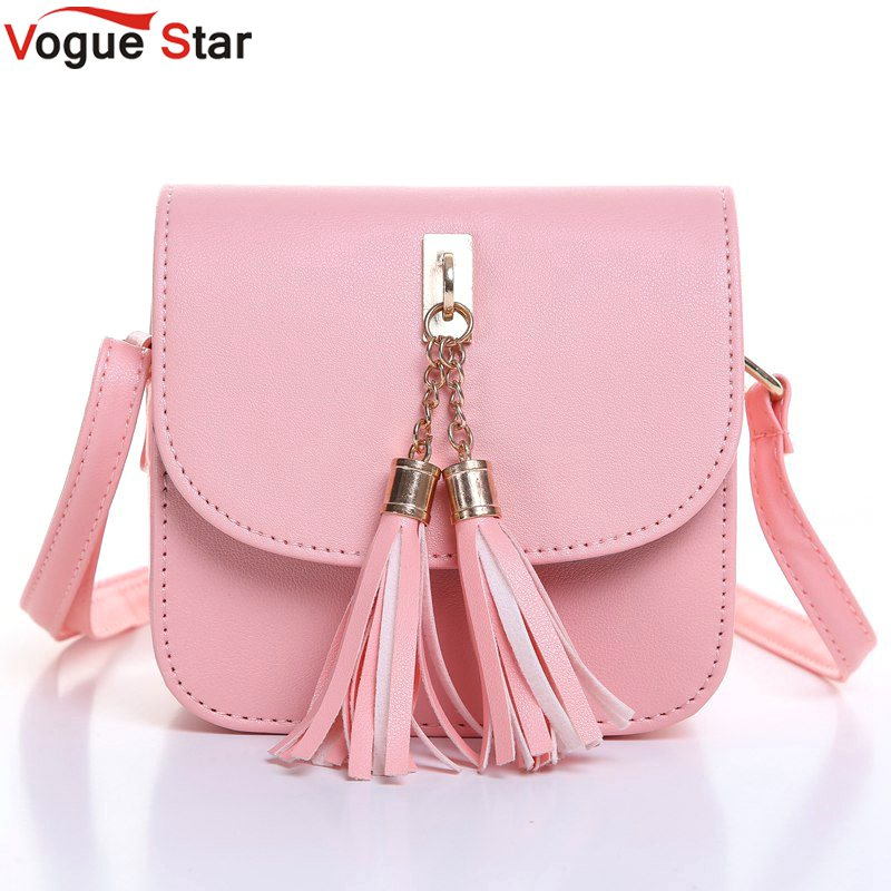 Vogue Star Fashion 2017 Small Chains Bag Women Candy Color Tassel Messenger Bags Female Handbag Shoulder Bag Flap Women Bag LA33