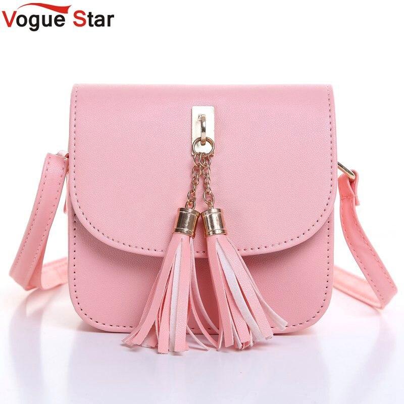Vogue Star Fashion 2017 Small Chains Bag Women Candy Color Tassel Messenger  Bags Female Handbag Shoulder Bag Flap Women 7321c26399d3e
