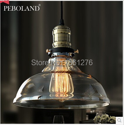 ФОТО American Vintage Pendant Light Cafe Creative Glass Pendant Light Bar Lamp Clothing Store Fixtures