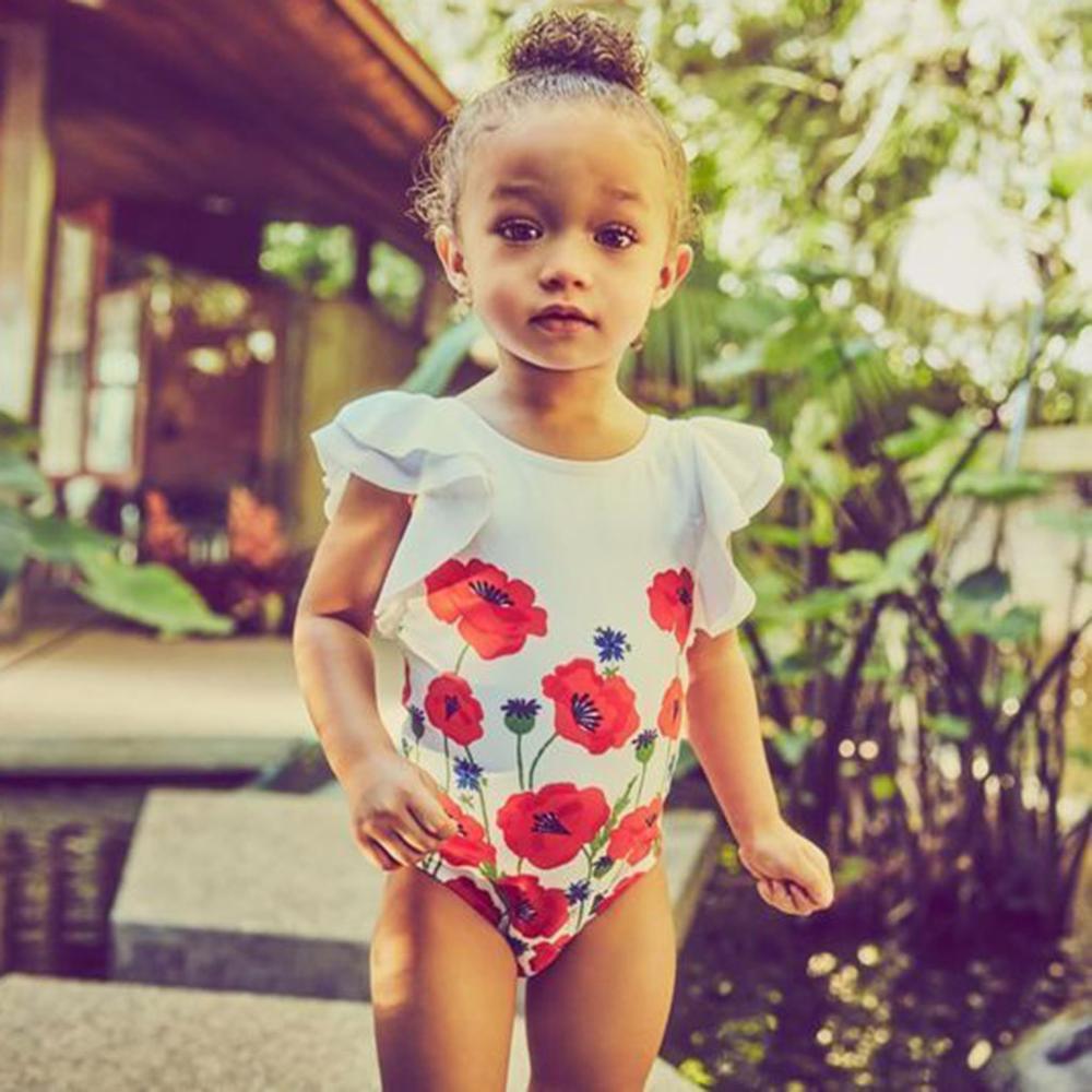 Children Swimwear Girls Beachwear Bathing Toddler Kids Baby Girls Flower Bikini Swimwear Swimsuit Bathing Suit Beachwear A1
