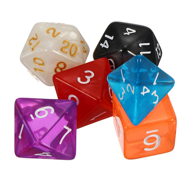 New TRPG Board Games 42pcs Multi-sided Acrylic Polyhedral Dice Set with  Family Party Club 3ad9fb59e05c