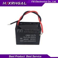 2pcs CBB61 10uf starting capacitance AC Fan Capacitor 450V CBB Motor Run Capacitor