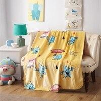 Żółty Raindrops Koc Polar Kreskówki Wiosna/jesień Wygodne Koc dla Dzieci i Dorosłych Tanie Tkaniny Poliestrowej