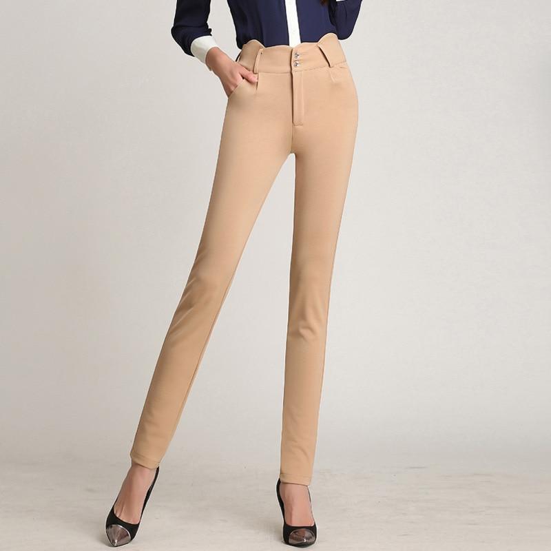 New Summer Women   Pants     Capris   Woman Solid Mid-Waist Slimming   Capris     Pants   Cotton Blended Skinny Penci   Pants   Female Trouser Black