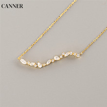 Canner Wave Horse Eye Crystal Necklace Women Choker Rhinestones Gold Chain Statement Fashion Jewelry Gift