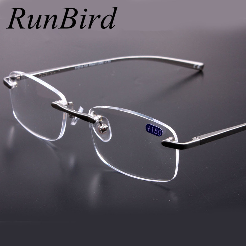 Rimless Glasses Trend : 2016 Brand Fashion Rimless Reading Glasses Women Men ...