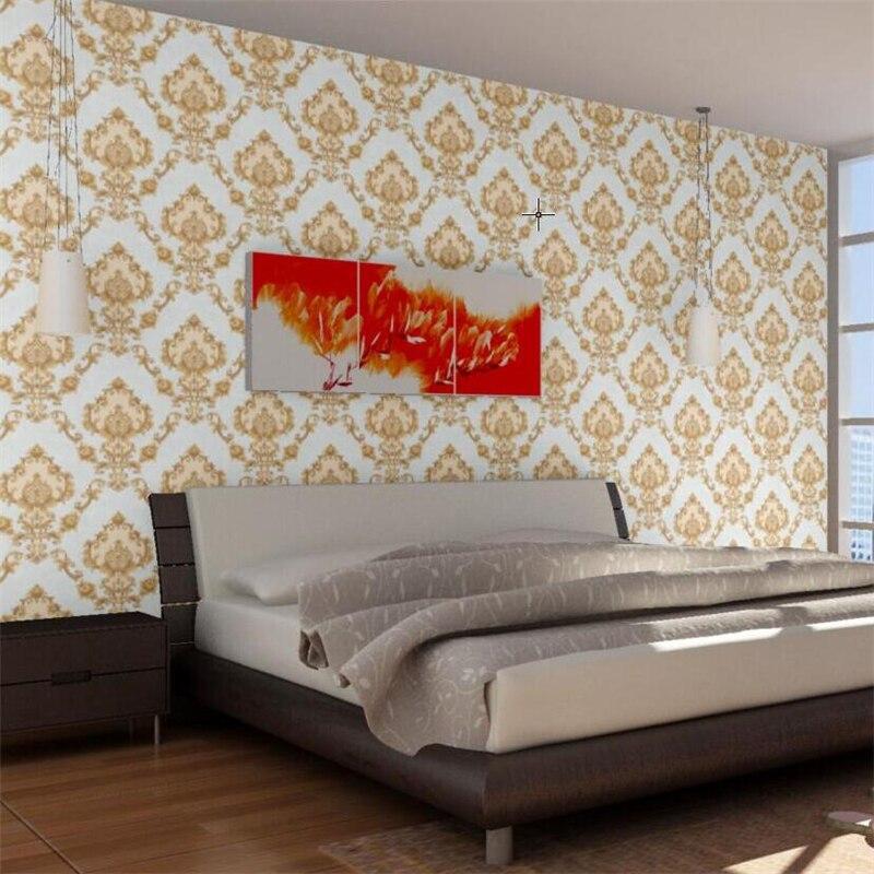 Beibehang épais style européen damas profond en relief PVC stéréo 3D papier peint chambre salon fond papier peint