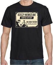 RZECZY NIEMOZLIWE... PRL Meska Zabawna Koszulka Polska Koszulki Polski Print T-Shirt Men Summer Style T Shirt Hot Sale