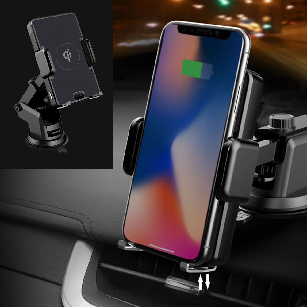 QI 10W Car Air Vent Holder Wireless Charger for iPhone Xs X 8 Aromatherapy Air Purifier