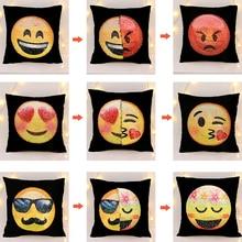 Spreminjanje obraza Emoji prevleka za blazine Bleščice Sequins vzglavnike cojin emoji Novost igrače geek antistres igrače gags šala pripomoček