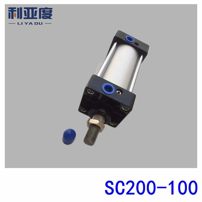 SC200*100 Rod aluminum alloy standard cylinder SC200X100 pneumatic components 200mm Bore 100mm Stroke sc100 100 rod aluminum alloy standard cylinder sc100x100 pneumatic components 100mm bore 100mm stroke