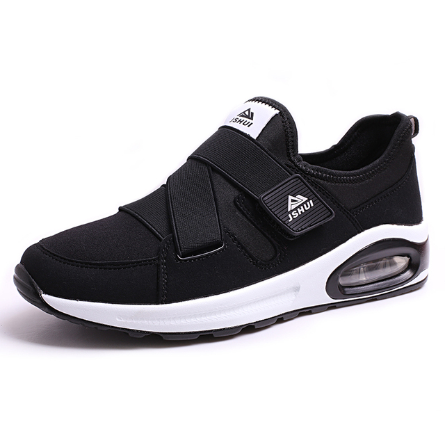 Venta caliente para hombre patchwork tela de estiramiento de la manera zapatos de verano transpirable slip-on sapatos casuais caminar zapatos del amortiguador de aire más barato