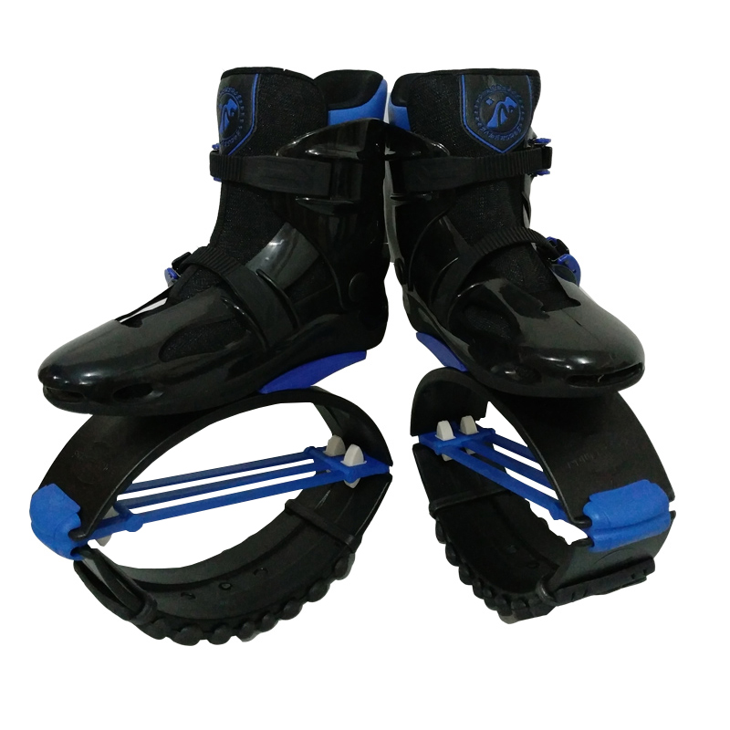 MiaoMiaoLong Jumps BKBE3941 Black&Blue Sports Boots US Men 6,6.5,7 US Women 7,7.5,8 Fitness Bounce Shoes 6 4 4m bounce house combo pool and slide used commercial bounce houses for sale