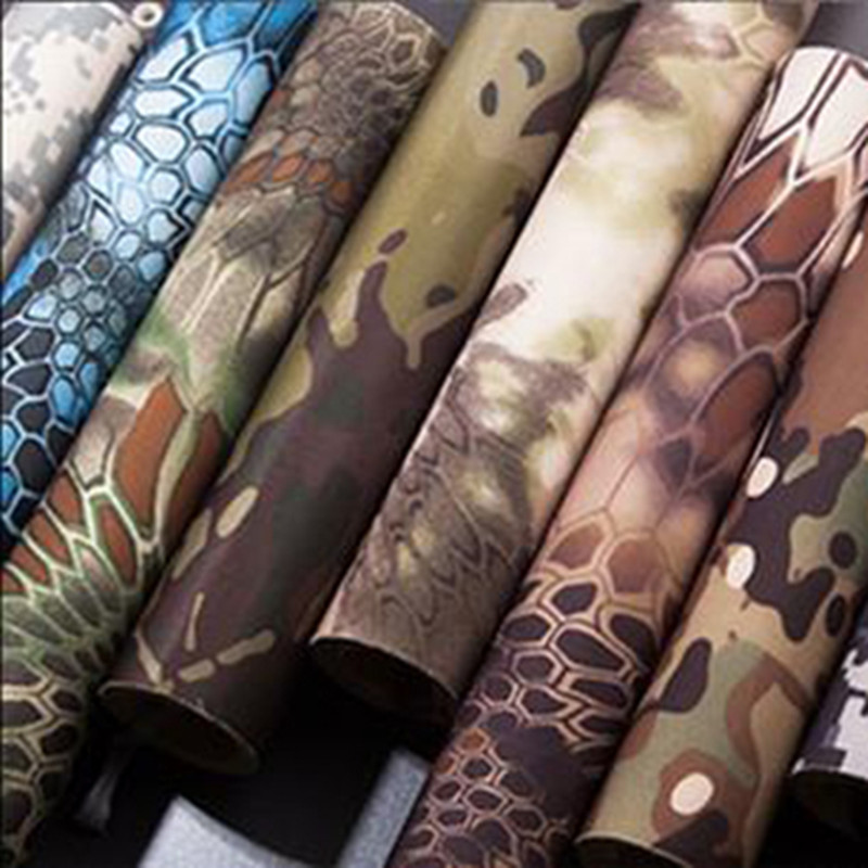 30*150cm Tactical Belt Multi-function Stretchy Camouflage Self-adhesive Tape DIY Decals Elastic Paster Viscous Gear Multicam