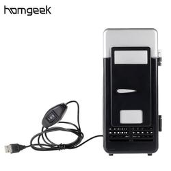 Homgeek холодильник напиток Банки Охладитель и теплее с светодиодный светильник для домашнего офиса
