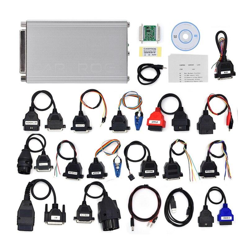 Car airbag tool Professional CARPROG FULL V10.05 CAR PROG Programmer For Repair Tools With 21 Full Adapters