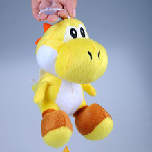 New Yellow Yoshi 7 Super Mario Bros Soft Plush Figure Toy Doll Cute Baby Gift