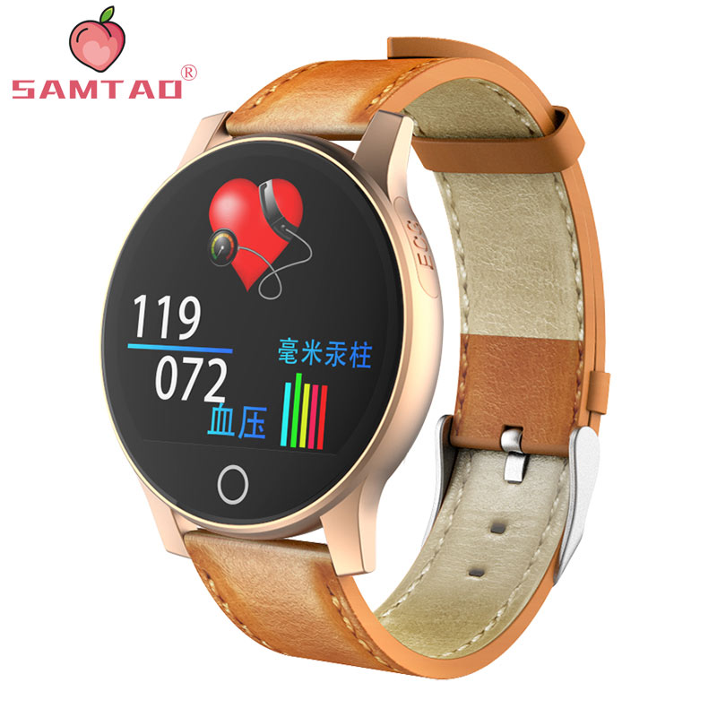 R2 Smartwatch Smart Watch ECG+PPG Heart Rate Blood Pressure Monitor Fitness Actives Tracker Multi Sport Wristband Leather StrapR2 Smartwatch Smart Watch ECG+PPG Heart Rate Blood Pressure Monitor Fitness Actives Tracker Multi Sport Wristband Leather Strap