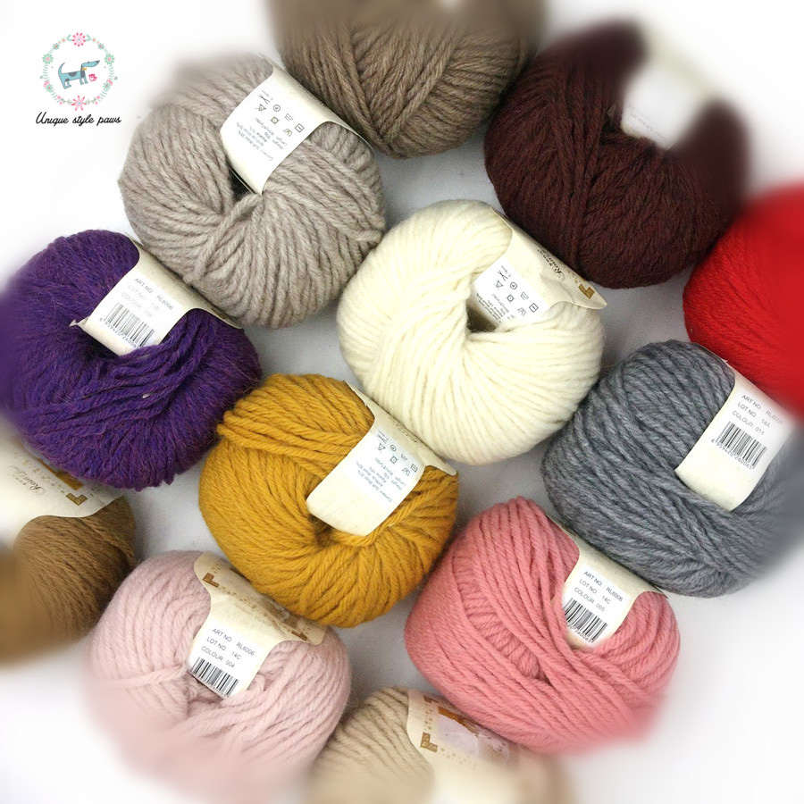 15 Colors Crochet Yarn Milk Cotton Knitting Yarn Soft Warm