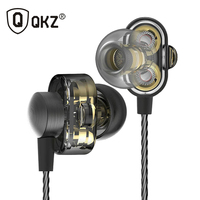 QKZ DM8 Earphones Mini Dual Driver Extra Bass Turbo Wide Sound Gaming Headset Mp3 DJ Field