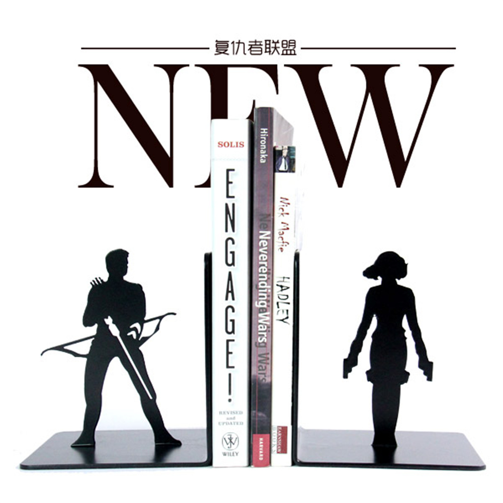 A Pair Creative The Avengers Metal Bookend Shelf Bookend Holder Office Supplies Home Decoration Book Stand диск replay ki176 6 5хr17 5х114 3 et46 d67 1 s