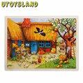 UTOYSLAND 60-часть Apple Tree House Деревянные Головоломки Детские Детские Развивающие Игрушки