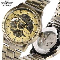Arabic Digital Automatic Mechanical Watch for Men Exquisite Skeleton Watches for Boy Black Stainless Steel Watch for Friends Mechanical Watches    -