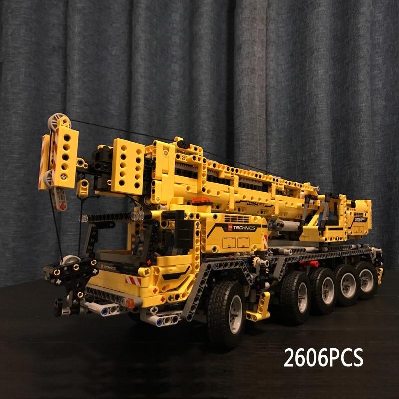 Technics mobile crane MK II electric building block Engineering truck model with motor bricks 42009 educational toys collection laser head dcs p8i mk ii sacd